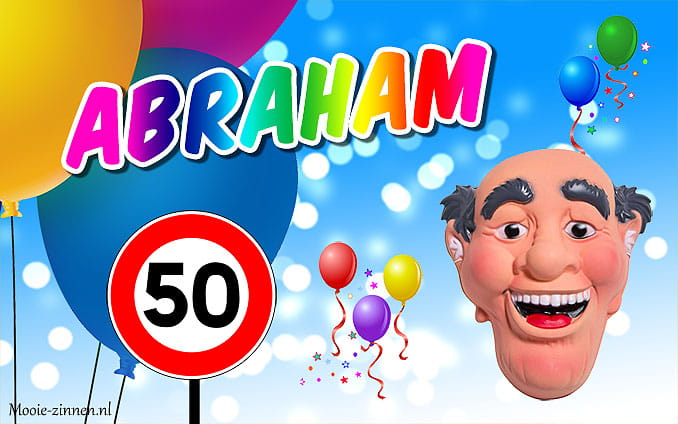 Abraham 50 jaar man afbeelding