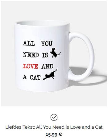 Mooie zinnen all you need is ove and a cat mok wit