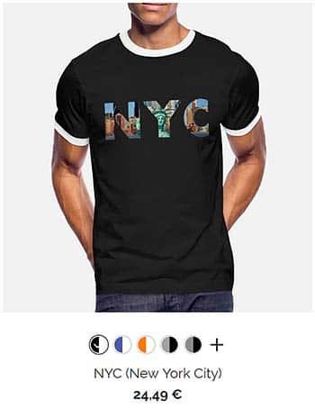 Mooie zinnen mannen t-shirt zwart nyc new york city