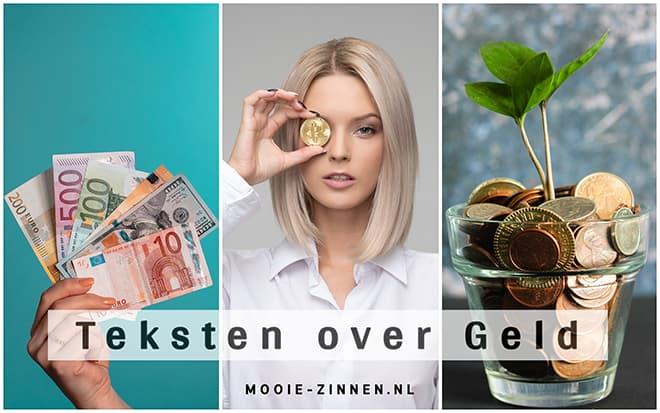 Teksten over geld